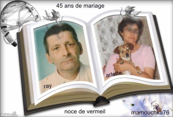 Joyeux anniversaire de mariage 45 ans de bonheur pour vous ray et arlette la portuguaise d - 45 ans de mariage noce de ...